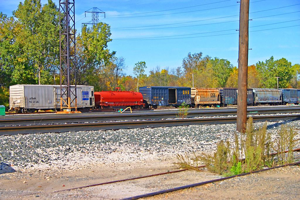 Box Cars, Covered Hoppers & a Coil Car, CSX Wyoming Yard