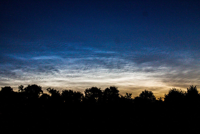 Dawn Noctilucent Clouds 3:43am BST 18/07/15