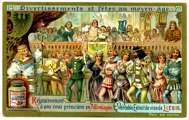 Liebig Tradecard S699 - German Princes Court