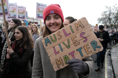 Muslim lives matter - placard at London's anti-Trump ban demo. | by alisdare1