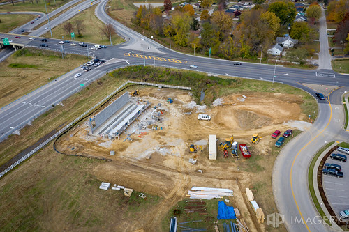 wimsatt building corner construction aerial hwy54 bypass carwash kentucky usa