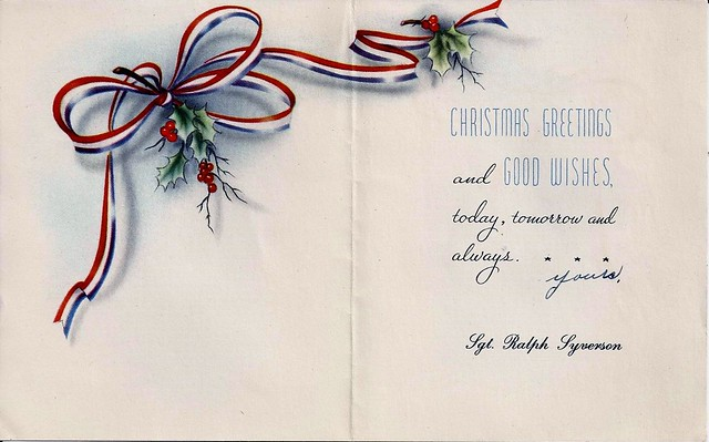 1943 WW II Christmas Card