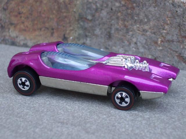 Hot Wheels 25th Anniversary Redline Splittin Image Metallic Cerise Pink  Mint