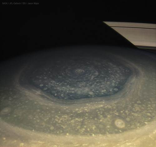 Saturn's northern hexagon on  11-28-12 | by Lights In The Dark