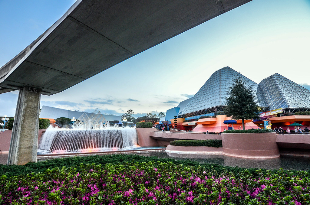 Imagination Pavilion from below Epcot