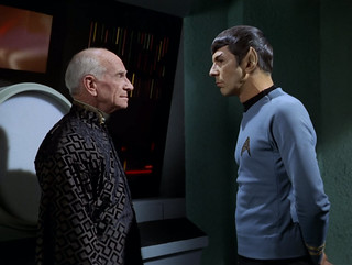 "Ian Wolfe, Leonard Nimoy, Star Trek TOS, ""All Our Yesterdays,"" 1969 