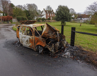 10293 Burnt Out Car, Eynsford