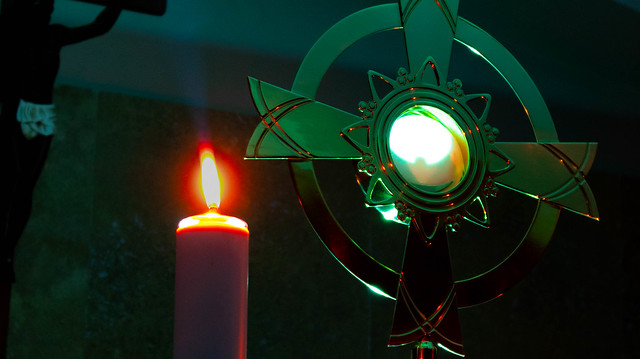 Eucharist and candle