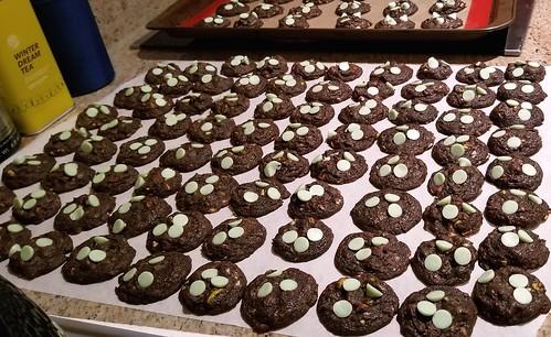 Chocolate-Mint-Pistacio cookies Sweettonescupcakes