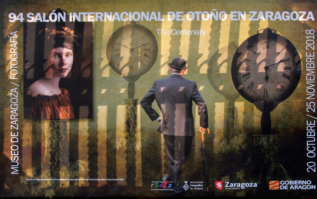 Photo exhibition poster. Translucent