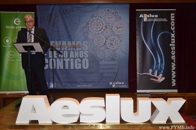 José Luis Sánchez Iglesias, durante su discurso en la Asamblea General de AESLUX 2018.