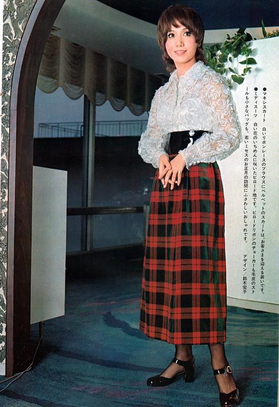 岩下志麻モデル、鈴木宏子デザインのマキシスカートの画像です。