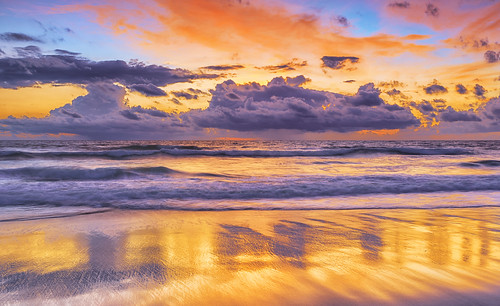 florida jacksonvillebeach sunrise atlanticocean coast beach reflection surf