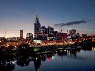 Skyline fo Nashville, Tennessee. Original image from Carol M. Highsmith's America, Library of Congress collection. Digitally enhanced by rawpixel.