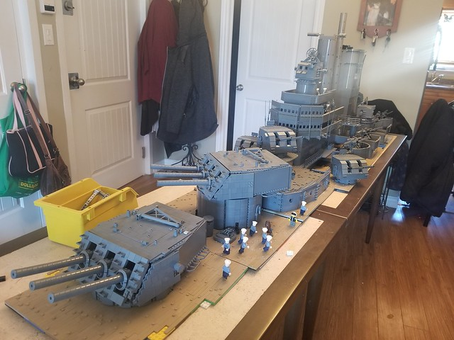 USN Des Moines Class Heavy Cruiser Christmas Update Bow View