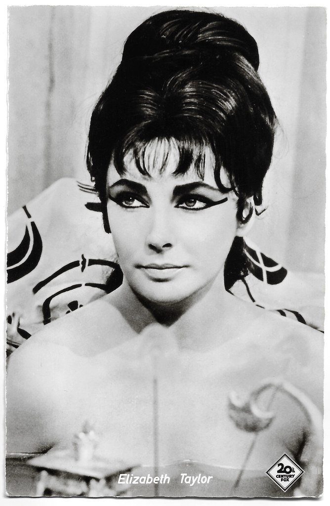 Elizabeth Taylor In Cleopatra 1963 German Postcard By Ko Flickr