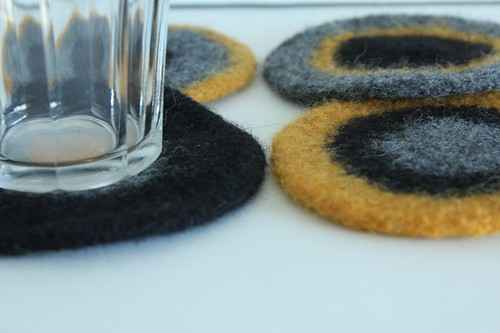 Felted Coasters - Laura | by smithsoccasional