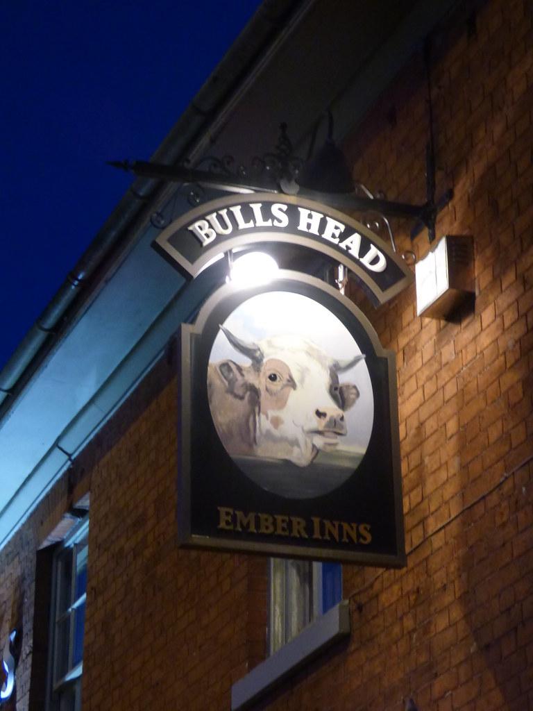 Blue Hour at the Bulls Head - Stratford Road, Hall Green - pub sign