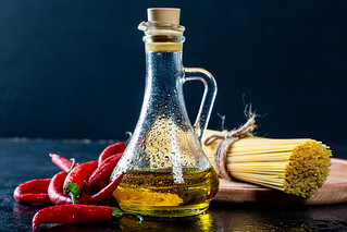 Olive oil with chili and spaghetti | by wuestenigel