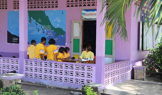 Daily school life on island  Koh Lipe