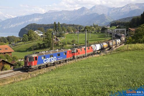 Re 620 062+Re 420 349 SBB Cargo. Kumm . 12.09.18.