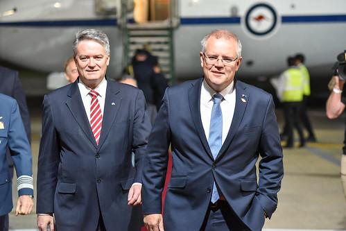 Llegada de Scott Morrison, primer ministro de Australia | by G20 Argentina