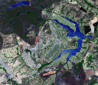 Brasilia, the capital of Brazil. Original from NASA. Digitally enhanced by rawpixel.
