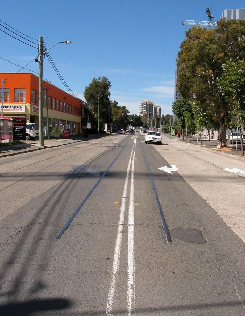 Ex Tram Line, Zetland, Sydney, NSW.