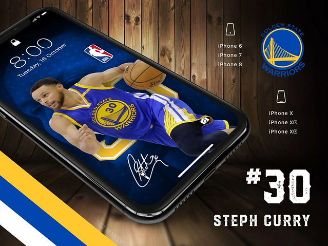 Steph Curry (Golden State Warriors) iPhone Wallpaper