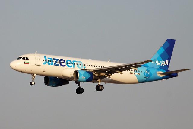Jazeera A320 9K-CAL short finals Bahrain