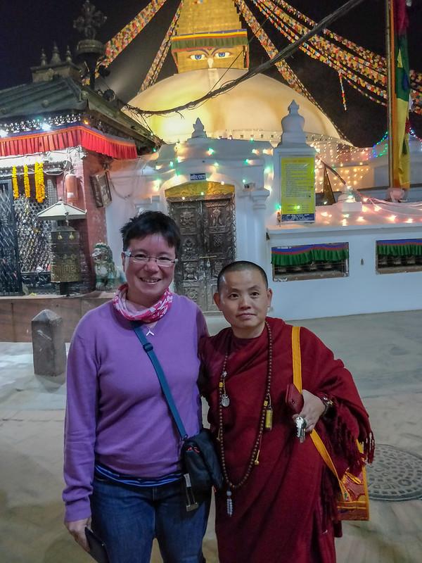 avec une nonne qui vient de Meizhou aussi !