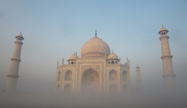 Fog in Taj Mahal, India