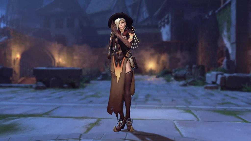 Mercy Witch Halloween Overwatch Game Live Wallpaper Flickr