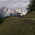 landrover on mountain road