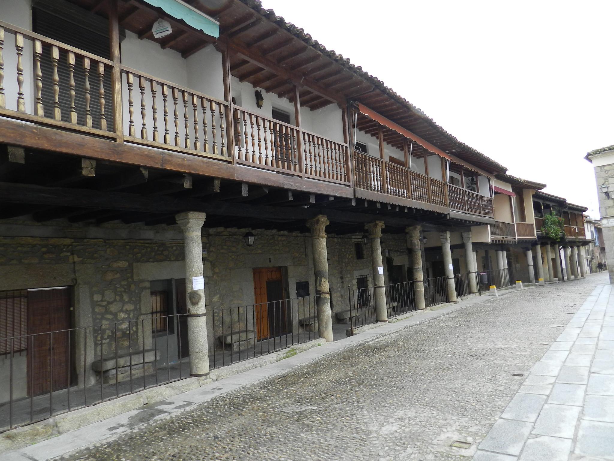 casas porticada Plaza de España Cuacos de Yuste Cáceres