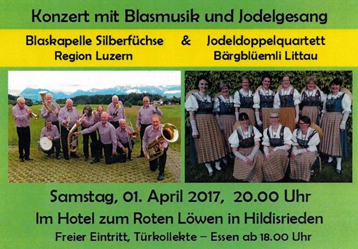 Konzert mit Blasmusik und Jodelgesang (01.04.1017)