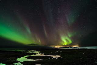 The Northern Lights at Strandarkirkja | by Andrew Stawarz
