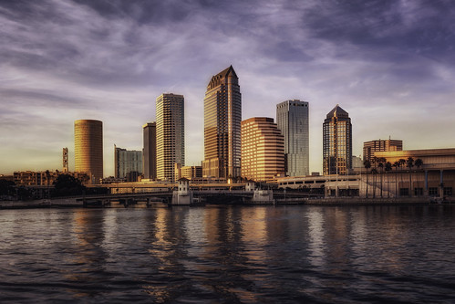 Sunset on the city skyline - Tampa, Florida | by Lord is Good