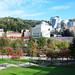 Museo Guggenheim desde el parque de la Republica de Abando