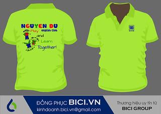 Áo đồng phục câu lạc bộ Tiếng Anh trường Nguyễn Du