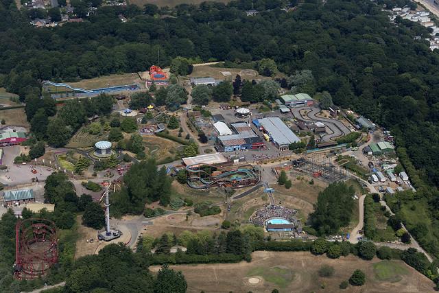 Aerial of Pleasurewood Hills in Suffolk