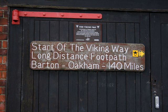 The northern end of the Viking Way walking route