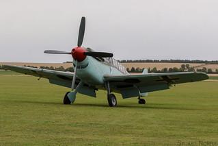 "Hispano Aviación HA-1112-M4L Buchón ""Red 11"" G-AWHC - Air Leasing Ltd Sywell"