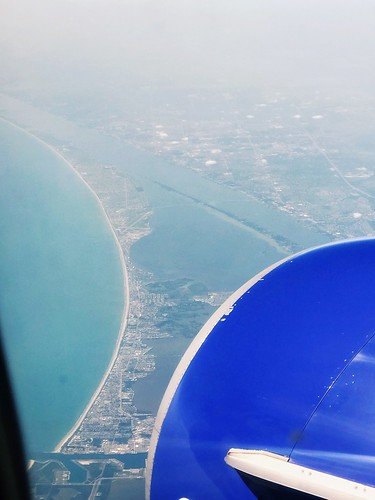 atlanticocean landscape airplaneview viewfromthesky plane highabove fromtheair florida capecanaveralspacecenter