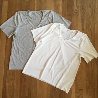 Two V-Neck Grainline Lark Tees | by patternandbranch