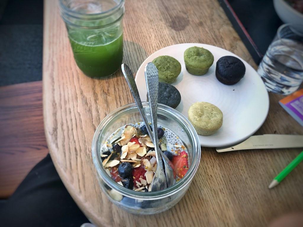 Chia seed pudding | mochi cakes | Samovar Tea Lounge, San Fr