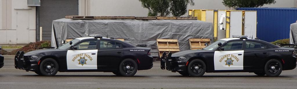 Pair of California Highway Patrol Dodge Chargers at Academ