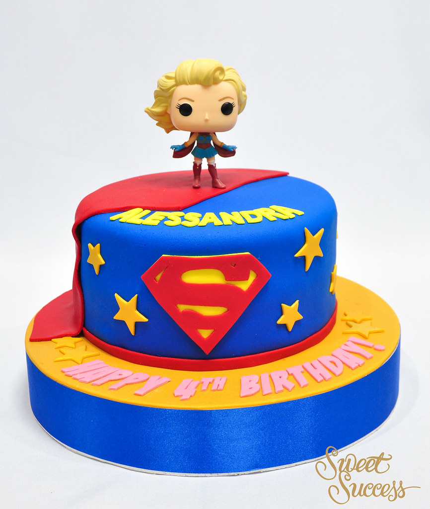 Strange Supergirl Cake Needing Some Super Powers Heres Supergirl Flickr Funny Birthday Cards Online Elaedamsfinfo