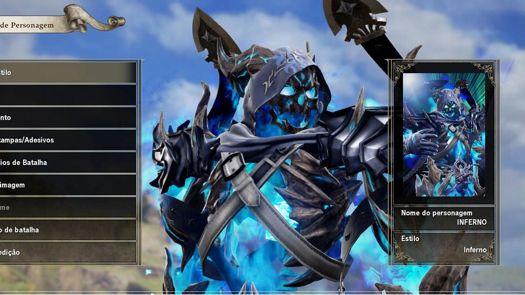 SOULCALIBUR 6 players character creation on ps4