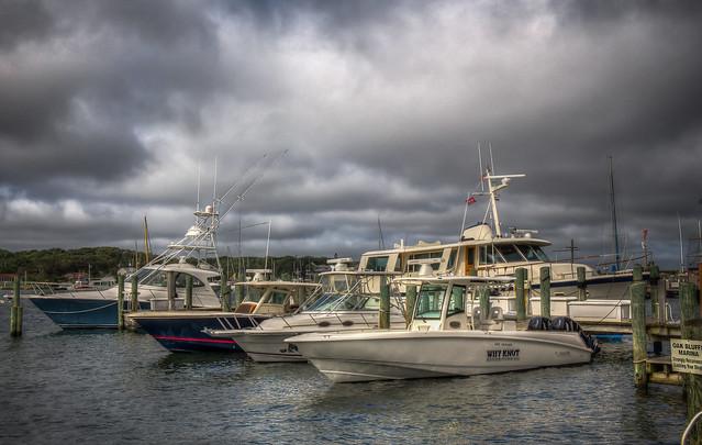 Boats at Oak Bluffs Marina